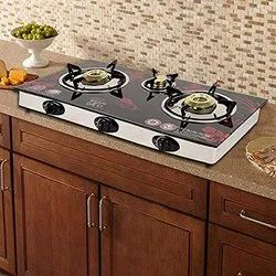 Glass Gas Stove - Automatic 3 Burner
