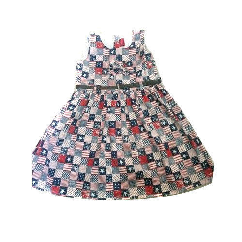 Regular Wear Printed Cotton Baby Frock