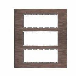 18 Module Black Wood Modular Switch Plate