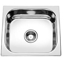Glossy Square Crystal Kitchen Stainless Steel Sinks, Size: 18x16