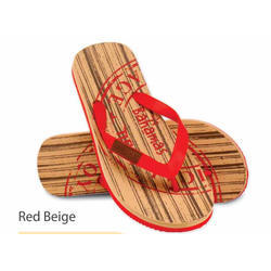 Red Beige Man Slipper