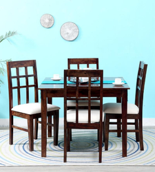 Four Seater Dining Set In Provincial Teak Finish