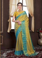 ALL Plain Handloom Pure Silk Saree