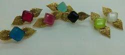 Colour Stone Designer Earrings