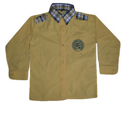 Yellow Cotton School Uniform Shirt