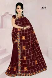 Chain Work Saree