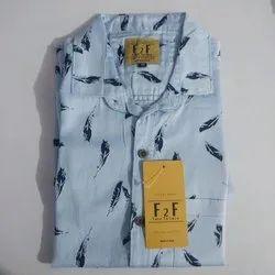 Blue Men Casual Shirt