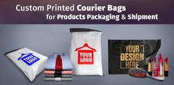 Screen Printed Courier Bags With Your Design/Logo