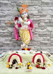 White Hindu Krishna Statue, for Worship, Size: 12 To 66 Inch