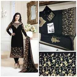Pramukh Regular Heavy Georgette With Embroidery Salwar Suit, Dry clean