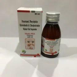 Paracetamol Phenylephrine Hydrochloride & Chlorpheniramine Maleate Oral Suspension