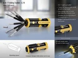 G14 - 8-In-1 Folding Toolkit With 7 LED Torch