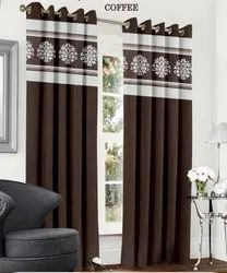 Abstract Flowery Brown Marun Curtain