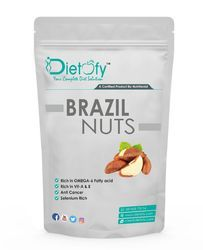 Dietofy Brazil Nuts, Packing Size: 200gm, Packaging Type: Vacuum Bag