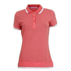 Ladies Cotton Half Sleeve T Shirt, Size: L & XL
