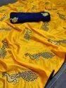 Peacock Paper Silk Saree