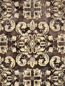 Brown And Cream Viscose Tufted V-114