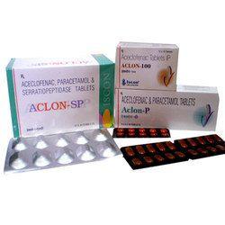 ACLON-P Tab.( Aceclofenac 100 mg para 325 mg )