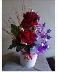 Red Flower Bouquet Chocolate