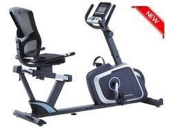 Silver Upright Powermax BR-700 Magnetic Recumbent Bike On Easy EMI Options, for Commercial