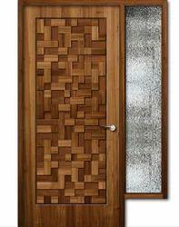 Handcrafted Teak Wood Door W03