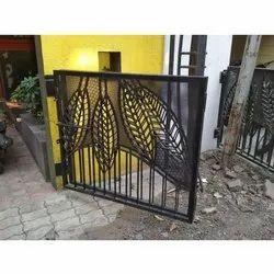 Black Mild Steel Single Door