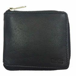 Mens Black Round Chain Wallet