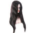 Human Semi Parting Mix 75% Black Hair Wig