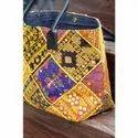 banjara leather embroidery shoulder bag