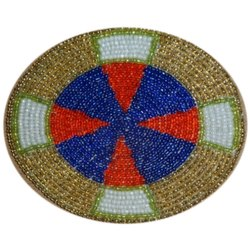 Multi Color Beaded Coaster