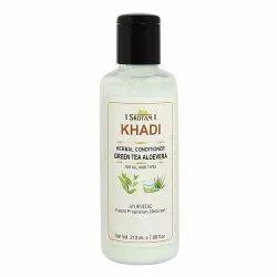 Natural Unisex Srotam Khadi Green Tea Aloevera Conditioner, Packaging Size: 210 Ml100, Type Of Packaging: Plastic Bottle