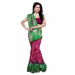 Women's Wear Panetar Bandhani Saree