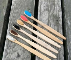 Teak Wood And Neem Wood Toothbrush - Eco-friendly Toothbrush