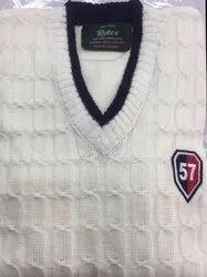 White Sports Pullover