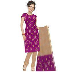Purple Stylish Bandhani Suit