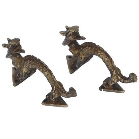 Aakrati Gray Dragon Door Handle Made In Brass