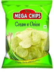 Cream And Onion Flavoured Potato Chips