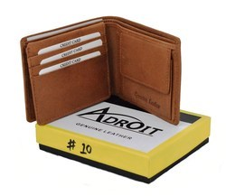 Adroit Leather Wallet Leather Wallet, Packaging Type: BOX