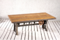 Crank Mechanism Dining Coffee Table With Reclaimed Top