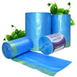 Blue Compostable Plain Garbage Bag Roll