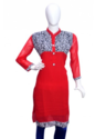 Georgette Red Color Kurti