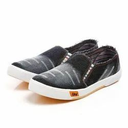 Mens Black Sneaker Canvas Shoes