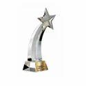 Crystal Shooting Star Trophy, Shape: Custom Shape