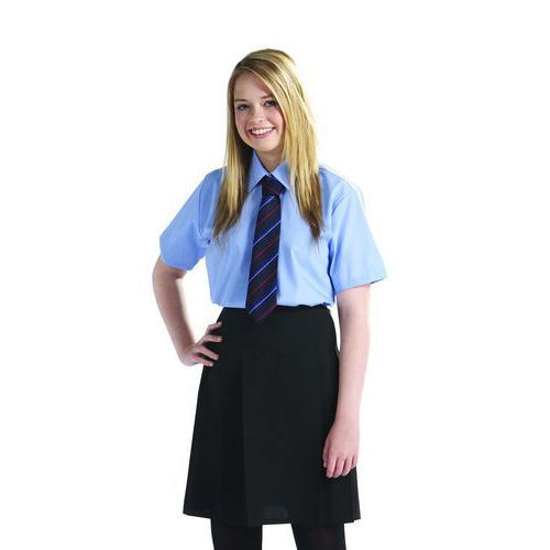 Blue And Black Polyester Girls School Uniform, Size Small, Medium -5958