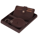 Black And Brown Genuine Leather Card Holder