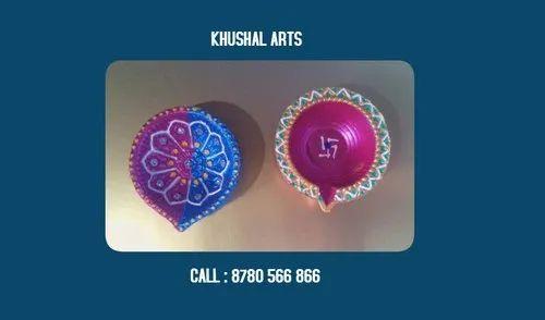 Clay Printed Diwali Diyas, Packaging Type: Cartoon Packing
