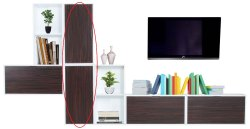 Wood Wall Mounted Designer TV Cabinet, For Home, Hotels