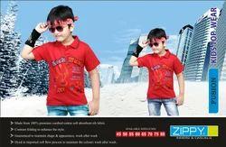 Cotton, Hosiery Kids T Shirt Fusion