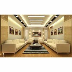 Everest Off White Color Designer Living Room False Ceiling, Thickness: 12 mm