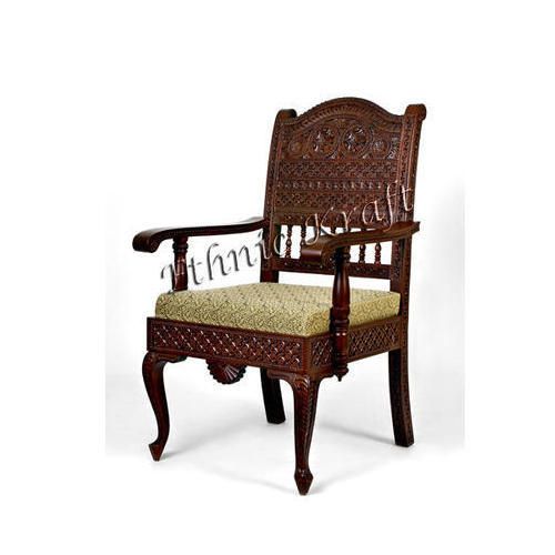 Optional Carved Teakwood Dining Chair